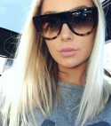 Lady Flat top Oversized Sunglasses Women